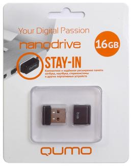 USB 16 Gb Qumo Nanodrive (black)